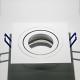 LH10421 Rechthoekig wit gelakt aluminium armatuur voor 1 x MR16