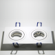 LH11821 Rechthoekig wit gelakt aluminium armatuur voor 2 x MR16