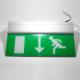 Noodverlichting rechthoekig (176x363mm)<br>Afbeelding lopende persoon + pijl naar onder