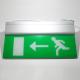 Noodverlichting rechthoekig (176x363mm)<br>Afbeelding lopende persoon + pijl naar links of naar rechts