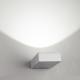 Platte rechthoekige up- of downlight wandarmatuur 3 Watt warm wit