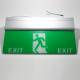 Noodverlichting rechthoekig (176x363mm)<br>Afbeelding EXIT + lopende persoon
